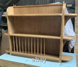 Bespoke Solid Welsh Oak Wall Unit With Plate Rack And Shelving