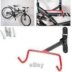 Bike Bicycle Cycle Rack Hook Wall Mounted Garage Storage BMX Holder + Fit Screws