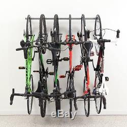 Bike Rack Garage Wall Mounted Organizer 6 Hooks Adjustable Storage Bars Racks