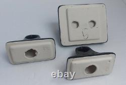 Black Bathroom Ceramic Towel Rack Bar Rod Holders TP Toilet Paper Holder Vintage
