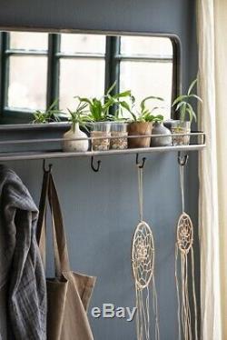 Black Coat Rack With Mirror & 6 Hooks by Ib Laursen