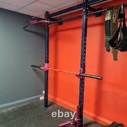 Blue Wall mounted steal squat rack (heavy duty)