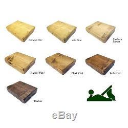Chunky Rustic Wooden Coat Rack Shelf Shelves Coat Stand Clothes Rail Handmade