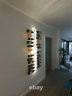 Clear acrylic wine rack wall mounted
