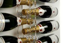 Clear acrylic wine rack wall mounted illuminated
