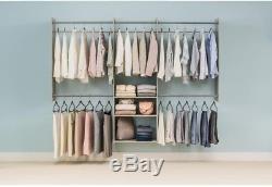 Closet Kit Wardrobe Clothes Storage Organizer Rack Shelf Bedroom Wall Mount