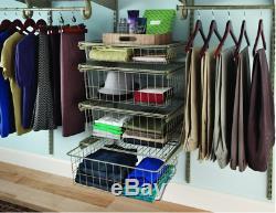 Closet Shelf Rack Storage Organizer, 4-Drawer, Nickel Kit Ventilated Hats Gloves