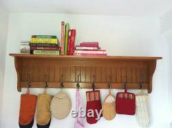 Coat Rack Wall Shelf, Entryway Shelf with Coat Hooks, Home Organizer Shelf