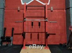 Commercial Squat rack Wall Mounted