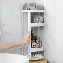 Corner Shelf Rack Storage Holder Rotating 360 Degree Kitchen Bathroom Organizer