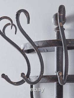 Cox & Cox Living Room Modern Aged Metal Wall Mounted Coat Rack RRP £165