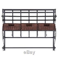 Crafting Storage Rack Scrapbook Wall Mounted Unit Organizer Art Supplies Basket