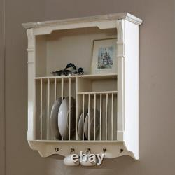 Cream Wall Mounted Plate Rack kitchen crockery French country shabby vintage
