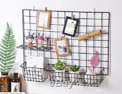 DIY Wall Multifunction Metal Mesh Hanging Bathroom Storage Rack Shelf Organizer