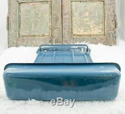 DUTCH Enamel Spoon Rack Enamelware wall mounted Utensil Holder Petrolblue