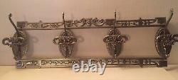 Decorative Vintage Brass Wall Mounted Coat Rack