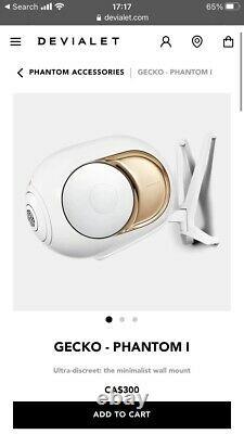 Devialet Phantom I Gold Silver White Classic Gecko Speaker Wall Rack Mount Only