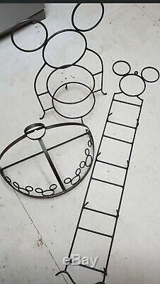 Disney Mickey Mouse Wrought Iron Wall Mounted Hanging Pot Rack ULTRA RARE! LQQK