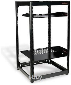 ECHOGEAR 15U Open Frame Rack Heavy Duty Network Servers AV Gear Vented Mountable