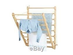 Elegant Wooden Wall Mounted Clothes Dryer Doris White Laundry Ladder By Julu