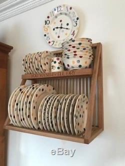 Emma Bridgewater Oak Wall Mounted Wooden Plate Rack Brand New