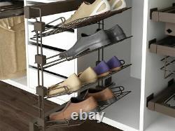 Emuca MOKA Wardrobe Cabinet Lateral Pull out Shoe Rack Hanger Rail