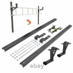 Enclosed Trailer Ladder Rack mounts to the exterior side wall
