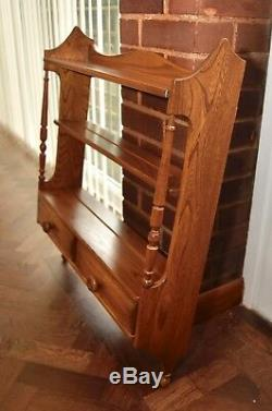 Ercol Old Colonial Wall Mounted Display Rack