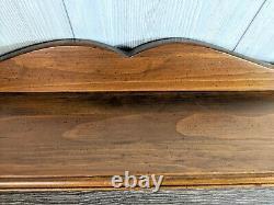 Ethan Allen Antiqued Pine Shelf Towel Rack