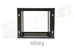 FLAT PACK 9U 19 600 W x 600 mm Deep, Network Data Wall Rack audio cabinet