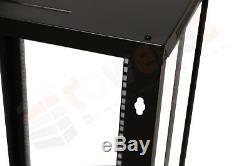 FLAT PACK 9U 19 600mm dept 634mm H Network Data Wall Rack audio cabinet