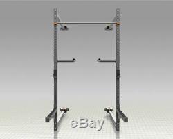 Fold Back Wall Mounted Squat Rack