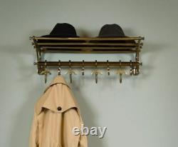 French COATRACK/Luggage Rack/Train Wall Mounted Rack vintage luxury decor Active