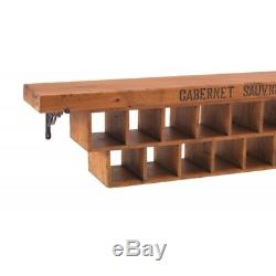 GOOD quality solid wood Wall Mounted 29 Hole Wine Rack