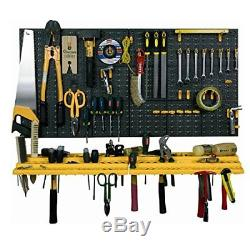Garage Tool Rack Kits Wall Mounted DIY Tool Organizer Including Hooks
