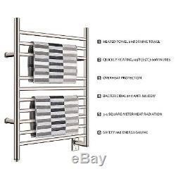 HEATGENE Electric Wall Mounted Towel Warmer Rail Hardwired Heated Rack Mirror