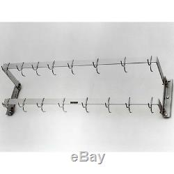 H. A. Sparke Pan Rack, Wall Mount. 12 W (from Wall) X 48 L. (53 Overall)