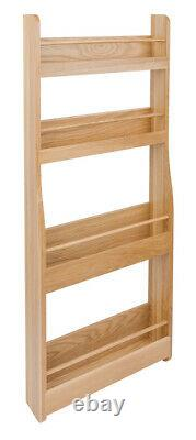 Hafele Storage Rack Clear Lacquered European Oak Clear Lacquered Finish