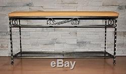 Hand Forged Steel Hange Wall Mounted Coat Hooks Rack +shelf, Unique gift