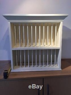 Hand Made Solid Wood Wall Mounted Plate Rack for Kitchen