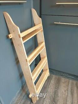 Handmade MAPLE Larder 4 Shelf Spice Rack 75 cm high 30 cm wide