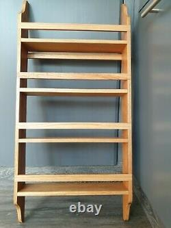 Handmade Oak Larder 4 Shelf Spice Rack 75 cm high 35 cm wide