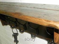 Handmade Reclaimed look wood Cottage Country style Hat& Coat Rack with shelf
