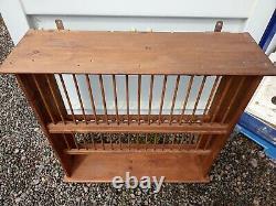 Handmade Solid Pine Wall Plate Rack