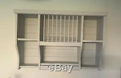 Handmade Wall Mounted Pine Plate Rack Storage