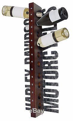 Harley-Davidson Motorcycles 10 Bottle Metal Vertical Wall Wine Rack HDL-18565