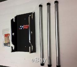 Harley Davidson Tour Pak / Accessory Storage Rack Wall Mount Ezwmal-14-3-p/c