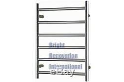 Heated Towel Rail Ladder Rack Round 6 Bars 600mmx800mm ON SALE