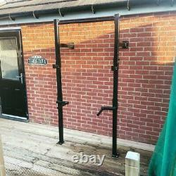 Heavy duty squat racks made to order. Wall mounted or free standing