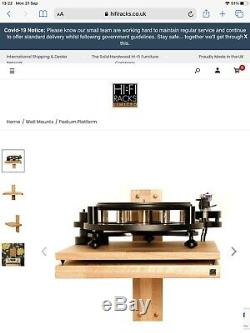 Hi-Fi Racks Podium Platform with 22cm Isolation Plinth 50x45cm Oak Satin Black